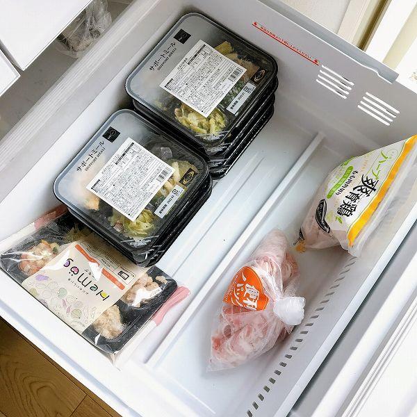 ライザップサポートミール冷凍庫